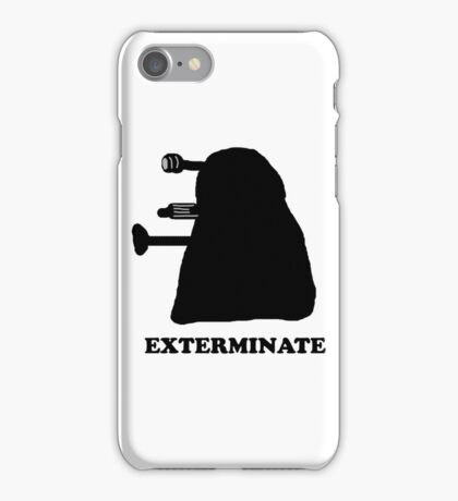 EXTERMINATE DALEK IN THE SHADOWS iPhone Case/Skin