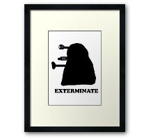 EXTERMINATE DALEK IN THE SHADOWS Framed Print