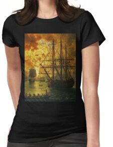 Jacob Philipp Hackert Water Fire Bomb Womens Fitted T-Shirt