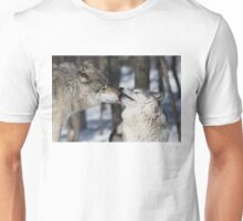 Timber Wolves in love Unisex T-Shirt