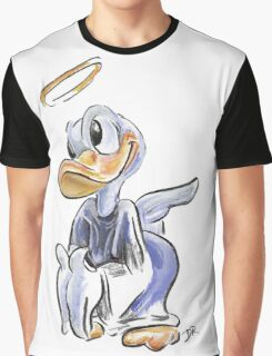 Charcoal and Oil - Angel Donald Duck Graphic T-Shirt