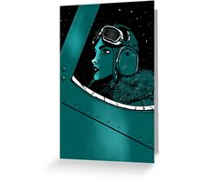 aviatrix Greeting Card