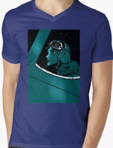 aviatrix Mens V-Neck T-Shirt