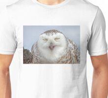 Smiling Snowy Owl Unisex T-Shirt