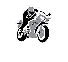 Biker VRS2 Photographic Print