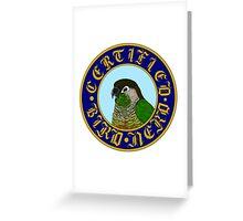 Certified Bird Nerd (Green Cheek) Greeting Card