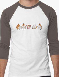 Paissa Brats and Doll (Horizontal) Men's Baseball ¾ T-Shirt