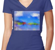 From The Painting Easel #6 Women's Fitted V-Neck T-Shirt