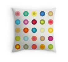 Vintage and colourful circles Throw Pillow