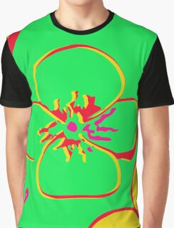 Contaminated Flowers Collection - Lime & Yellow Graphic T-Shirt