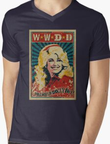 Dolly Parton Artwork Mens V-Neck T-Shirt
