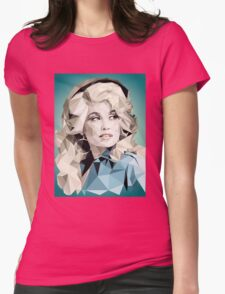 Dolly Parton Pixel Art Womens Fitted T-Shirt