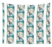 Dolly Parton Pixel Art Wall Tapestry