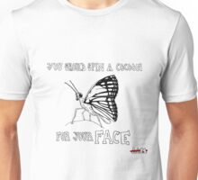 Animals Are Mean: Butterfly Unisex T-Shirt