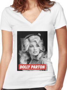 dolly parton gifts Women's Fitted V-Neck T-Shirt