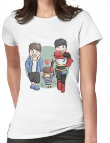 Dan And Phil x Undertale Womens Fitted T-Shirt