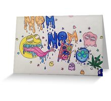 Nom Nom Pacman Greeting Card