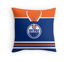 Edmonton Oilers Home Jersey Throw Pillow