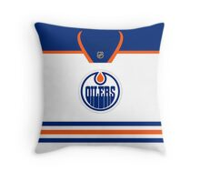 Edmonton Oilers Away Jersey Throw Pillow