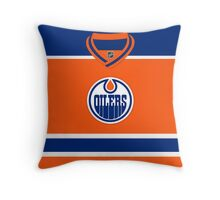 Edmonton Oilers Alternate Jersey Throw Pillow