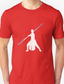 Star Wars - Rey blue lightsaber (white) T-Shirt