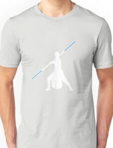 Star Wars - Rey blue lightsaber (white) Unisex T-Shirt