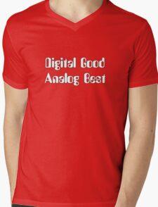Digital Good Analog Best Mens V-Neck T-Shirt