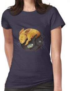 Watership down - fantasy rabbit design Womens Fitted T-Shirt