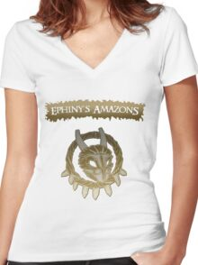 Ephiny's Amazons Nation Women's Fitted V-Neck T-Shirt