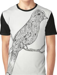 Swirley Bird 2 Graphic T-Shirt