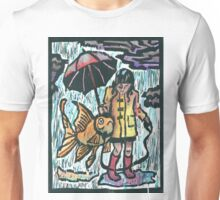 Girl and her fish Unisex T-Shirt