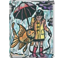 Girl and her fish iPad Case/Skin