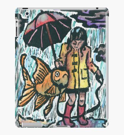 Girl and her fish iPad Case/Skin