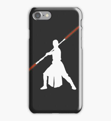 Star Wars - Rey red lightsaber (white) iPhone Case/Skin