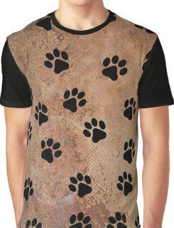 Paw Prints Graphic T-Shirt