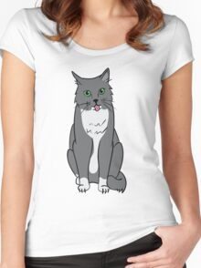 The Kitty Cat Women's Fitted Scoop T-Shirt