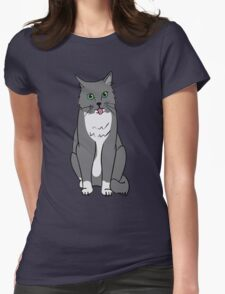The Kitty Cat Womens Fitted T-Shirt