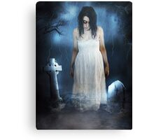 Woman in White Canvas Print