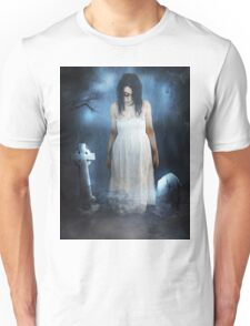 Woman in White Unisex T-Shirt