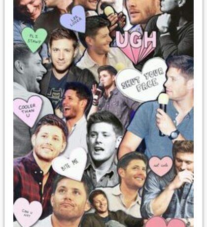 Jensen being aborable Sticker