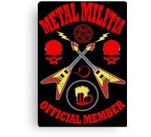 Metal Militia Colour Canvas Print