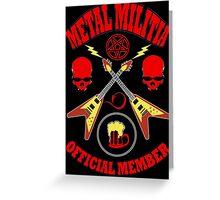 Metal Militia Colour Greeting Card