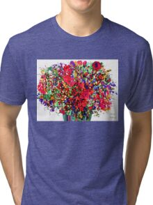 Springs Flowers Abstract Tri-blend T-Shirt