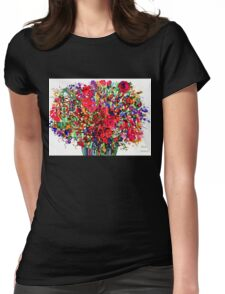 Springs Flowers Abstract Womens Fitted T-Shirt