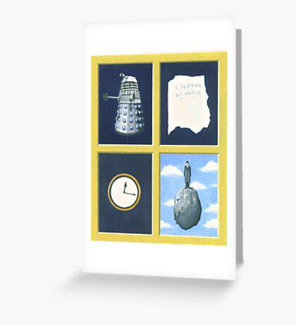 A homage to Rene Magritte. Greeting Card