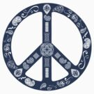 Paisley Peace Symbol by nealcampbell