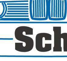 E30 Old School - Blue Sticker