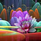 Lotus flower in a magical pond by walstraasart