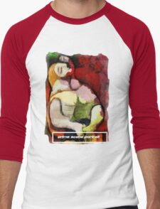 picasso graffiti # 6 - crime scene portrait Men's Baseball ¾ T-Shirt