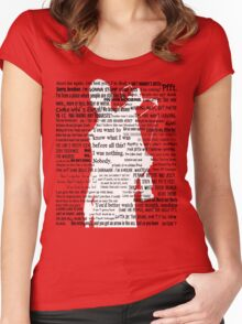 Daryl Dixon Quotes The Walking Dead TWD Graphic  Women's Fitted Scoop T-Shirt